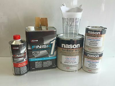 Super Jet Black urethane Nason basecoat Finish 1 Clearcoat auto paint supplies