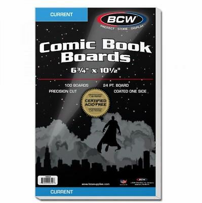 (100) BCW Current Size Comic Book Backing Boards - Acid Free / Precision Cut