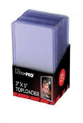 """25) Ultra Pro 3x5 3"""" x 5"""" Toploader Topload Holder Tall Cards Widevision Gameday"""