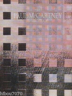 THE PAUL McCARTNEY WORLD TOUR PROGRAM / PROGRAMME 1989