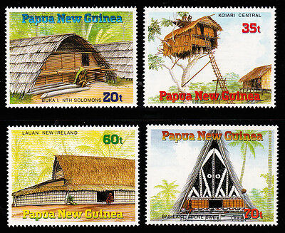 1989 PNG Traditional Papuan Dwellings MUH