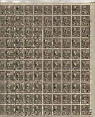 Abraham Lincoln Sheet of 100 x 16 Cent US Postage Stamps NEW Scot 821
