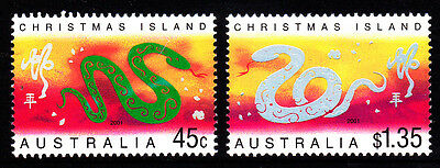 2001 Christmas Island Year Of The Snake MUH
