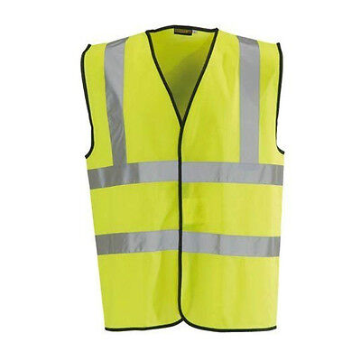 Yellow Hi Vis High Viz Visibility Vest Waistcoat Jacket Safety EN471 Work Size