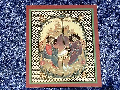 ORTHODOX RUSSIAN ICON - NATIVITY OF CHRIST,Blessing in 2000 year in Bethlehem