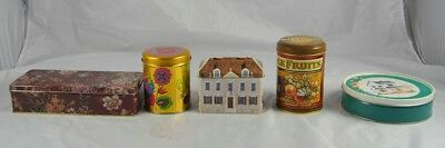 Lot of 5 Collectible Advertising Tins Bartons Candy Harrison House Shaped o1p29