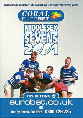 Middlesex Sevens 2001 Rugby Programme Winners British Army