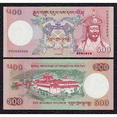 Bhutan P-NEW 2011 500 Ngultrum-Crisp Uncirculated