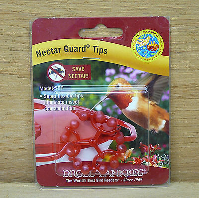 Droll Yankees Nectar Guard Tips for Hummingbird Feeder Stops Bees Flying Insects
