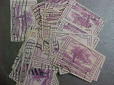 100 Used Stamps #772 3C Connecticut 300 Years