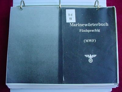 Full Copy of WWII Kriegsmarine Naval Terms 5 Language Dictionary Kiel Shipyard