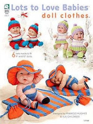 """Lots To Love Babies Doll Clothes Knitting Pattern Book - 6 Sets For 8 & 10"""" Doll"""