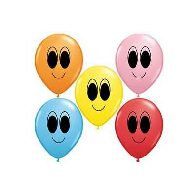 "Assorted Colours Google Eyes Qualatex 5"" Latex Balloons x 10"