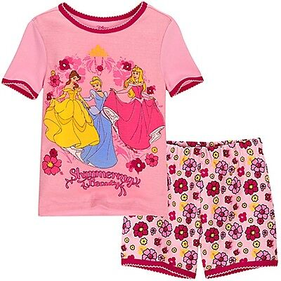 Clothing, Shoes & Accessories Sleepwear Disney Store Princess Belle Aurora Pink Pajamas Pj Pals For Girls Nwt Size 4