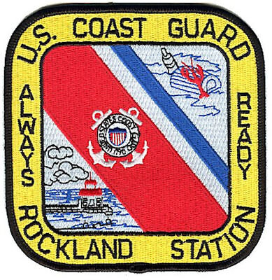 Station Rockland Maine W4721 USCG Coast Guard patch lobsters lighthouse