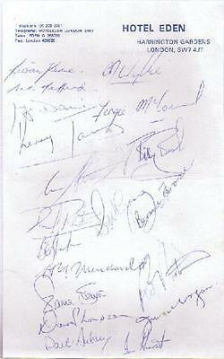 Cantabrians 1979 Rugby Autographed Sheet With Coa
