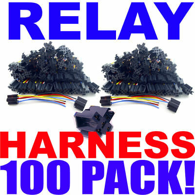 100 Pack Relay Harness 12 Volt 14/16 Awg 100Pc Lot! New