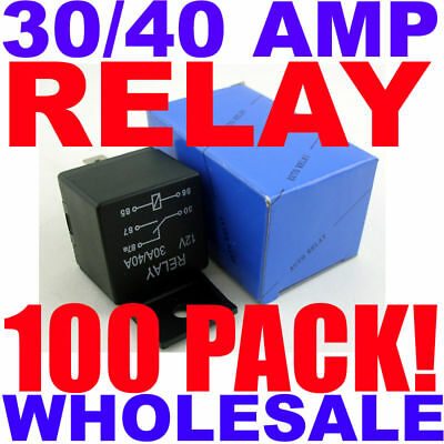 100 Pack Spdt 12 Volt 30/40 Amp Heavy Duty Relay 100 Pc Best Quality Free Ship