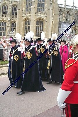 """mm678-Princes Charles Andrew William & Princess Anne  Knights Garter -photo 6x4"""""""