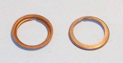 Copper CRUSH WASHER for Inverted Oil Filter DRAIN PLUG on MGB GT Roadster 67-69
