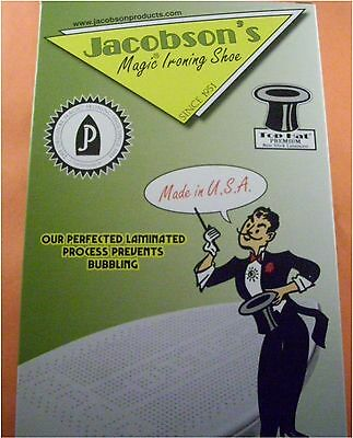 MADE IN USA TOP HAT TEFLON GRAVITY STEAM IRON IRONING SHOE ~182.5mm x 109.5mm