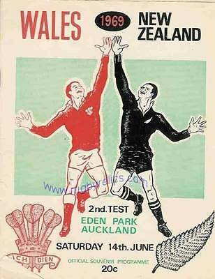 NEW ZEALAND v WALES 14 Jun 1969 2nd Test at Auckland RUGBY PROGRAMME