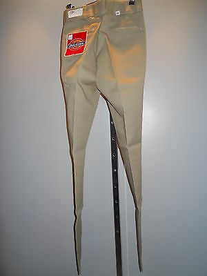 Nos Dickies Beige Tan School Uniform Slacks Pants Trousers Youth 10 Slim 23 x 26