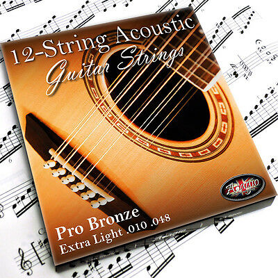ADAGIO PRO - 12 STRING Acoustic Guitar Strings Light Set Bronze Pack RRP £10.99