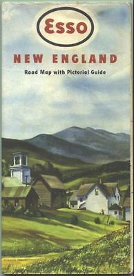 1949 Esso New England Vintage Road Map