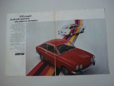 advertising Pubblicità 1971 FIAT 850 COUPE'