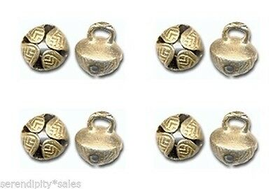 "125 SOLID BRASS JINGLE BELLS~19mm 3/4"" Beads~Crafts~ from INDIA ~  Super Nice"