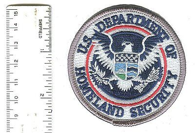 """IRON-ON 2.5"""" small Dept of Homeland Security color cap patch DHS DHS25CLR-P-DKN"""
