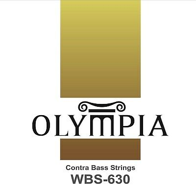 Quality Olympia Double Bass Strings Chrome Nickel Flatwound