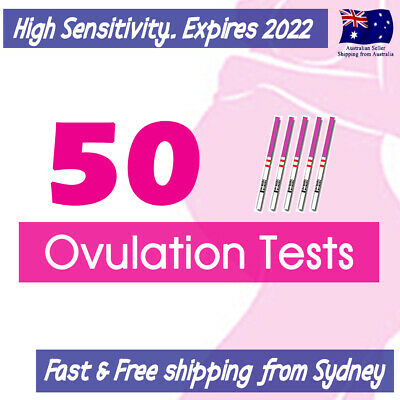 50x Ovulation (LH) Tests Strips +5 Urine Cups Get Pregnant  Fertility OPK Kit