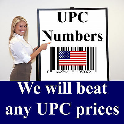 1,5,10,25,50,100,250 UPC Numbers & Barcodes printed Bar Code labels for Amazon