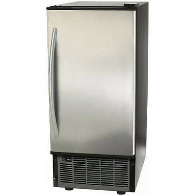 Clear Ice Maker Undercounter -OR- Free-Standing ~ Stainless Steel Cube Machine