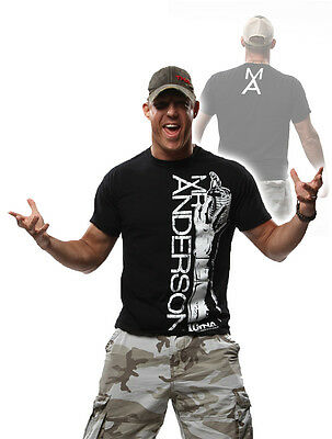 """Official TNA Impact Wrestling Anderson /""""People Are Fake/"""" Grey T-Shirt Mr"""