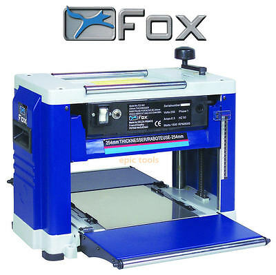 "FOX 10"" 250mm Portable Planer Thicknesser Timber/Wood/Plank Reducer 240v F22-561"