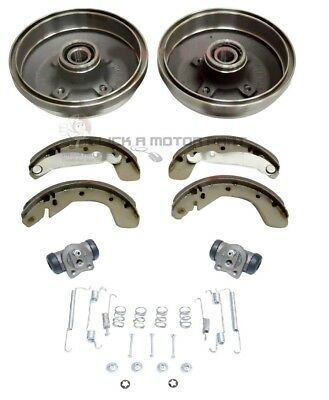 Vauxhall Corsa C Rear Brake Drums Shoes Wheel Bearings Cylinders + Fitting Kit