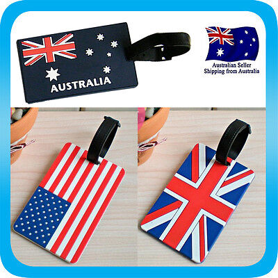 Luggage Tag Flag Tavel ID Name Tag for Backpack Travel Wallet *Australia*USA*UK