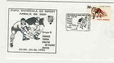 RWC 1995 Group D France Tonga Ivory Coast Scotland Rugby Comm Cover 1 Of a Set