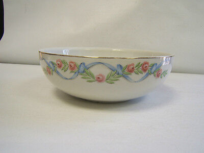"""Hall China Vintage Pottery """"Wildfire"""" Salad Serving Bowl 9"""" white Very good cond"""
