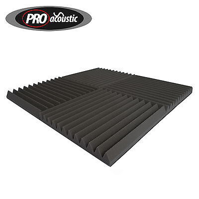 30x  AFW45 Large Pro Acoustic Foam Sound Treatment Wedge Tiles Coverage 5.42 M²