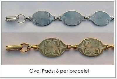 25 BRACELET Blanks/Forms ~ 6 OVAL PADS 20mm ~ 15 SILVER + 10 GOLD ~ Glue beads