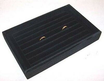 new BLACK COLOR SMALL RING TRAY DISPLAY BOX counter store boxes rings displays