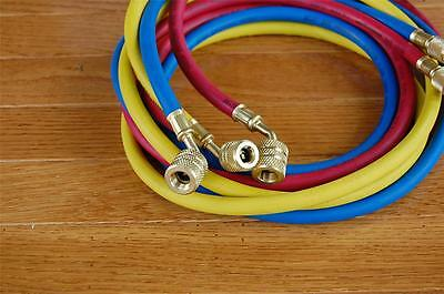 5ft Colored Hose Set forR134a R22 R12+ Manifold Gauge EPA Applied Low-Loss HVAC