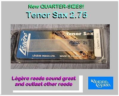 "Tenor Sax Legere #2¾ Reed - Légère synthetic ""permanent"" Quality GREAT SOUND"