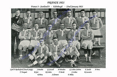 FRANCE 1921 (v Scotland, 22nd January) RUGBY TEAM PHOTOGRAPH