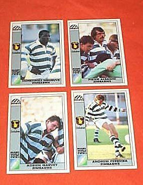 1991 Rugby Union World Cup Cards - Zimbabwe