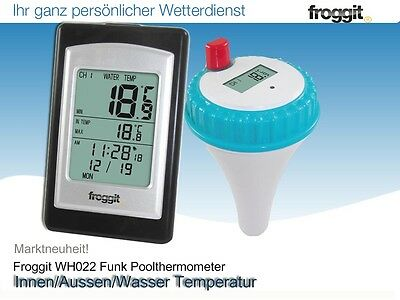 Funk Poolthermometer WH022 /0 Funkthermometer Teichthermometer Schwimmbad Pool